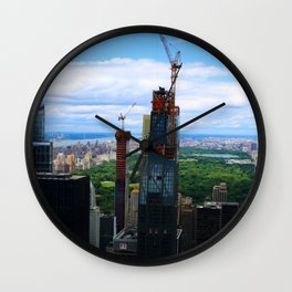 New Skyscrapers At Central Park New York Wall Clock