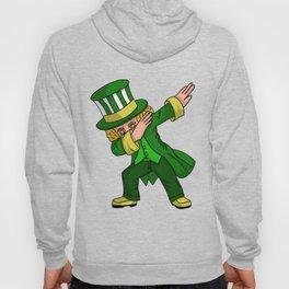 Boys St Patricks Day design Dabbing Leprechaun Green graphic Men Hoody