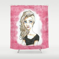 punk Shower Curtains featuring Snazzy Punk by Lagoonartastic