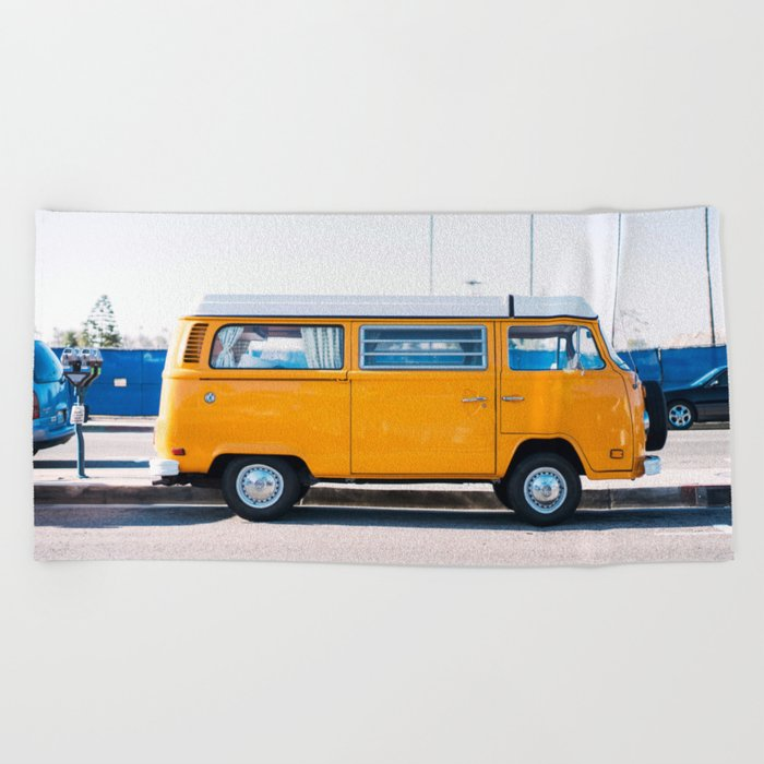 Combi yellow Beach Towel