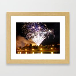 Castle Illuminations Inverness Scotland Framed Art Print