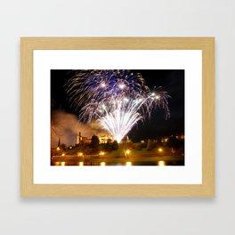 Castle Illuminations Inverness Scotland Framed Art Print