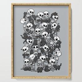 Cat Skull Party Serving Tray