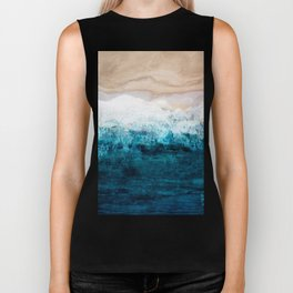 Watercolour Summer beach III Biker Tank