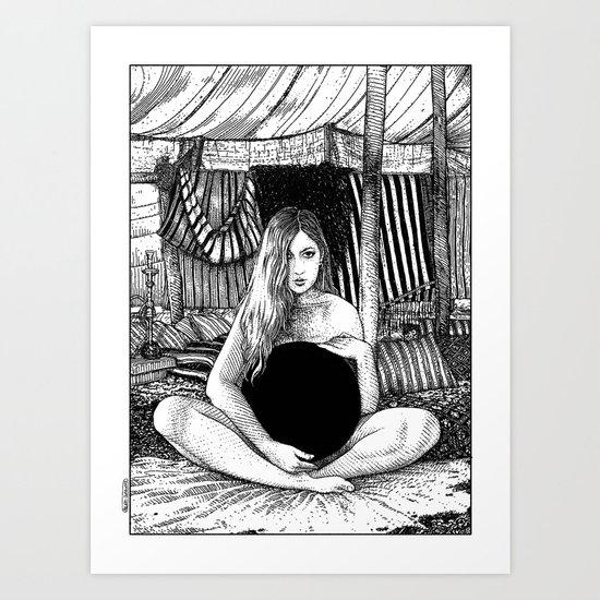 asc 671 - Le non-globe (Found in the desert) Art Print