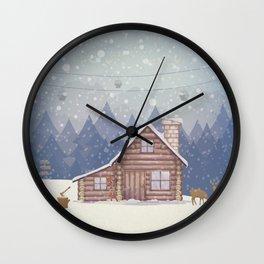 Winter - Let it snow Wall Clock