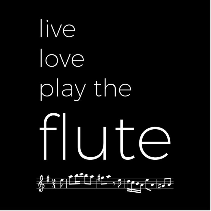 Live, love, play the flute (dark colors) Comforters