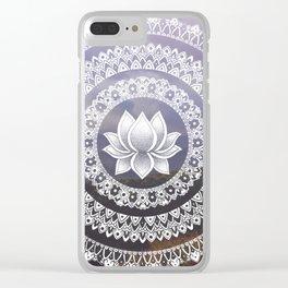 Lotus Mandala - Windermere Hills Landscape Clear iPhone Case