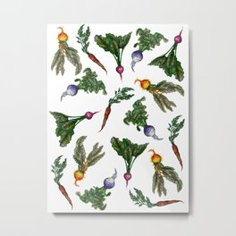 Watercolor Veggies Metal Print