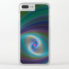 Elliptical Eye Clear iPhone Case