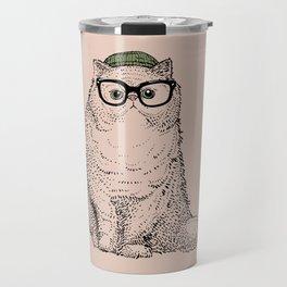 Hipster Persian Cat Travel Mug