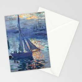 Claude Monet Sunrise - Marine Stationery Cards