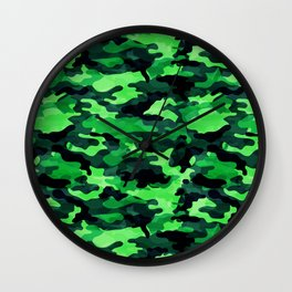 Camouflage (Green) Wall Clock