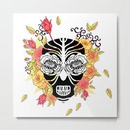 Flower skull. Metal Print