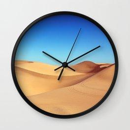 Scenic Sahara sand desert nature landscape Wall Clock