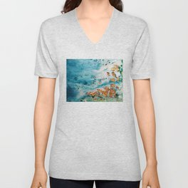 Sea and golden sand Unisex V-Neck