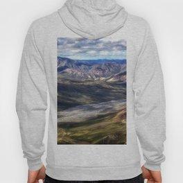 A River Through the Mountains - Denali, Alaska Hoody
