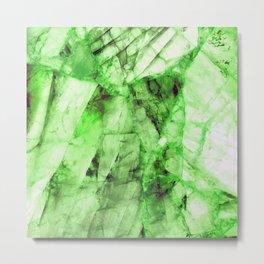 Green crystal Metal Print