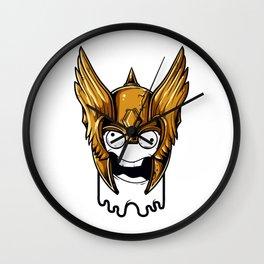 Whoa Viking Scary Wall Clock