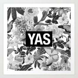 YAS B&W Art Print