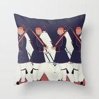 guardians Throw Pillows featuring Guardians by infloence