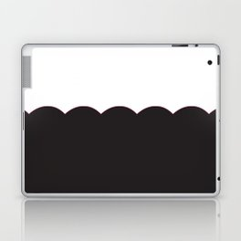 Scalloped - Black & White Laptop & iPad Skin