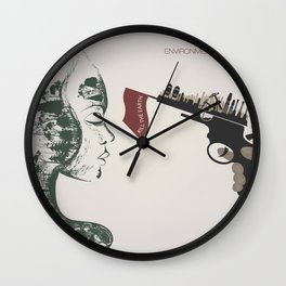 forest girl and gung Wall Clock