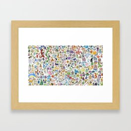 Monsters Character Framed Art Print