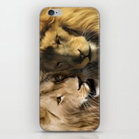 lions iPhone & iPod Skins featuring Lions by Julie Hoddinott
