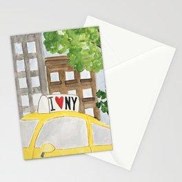 NY cab Stationery Cards