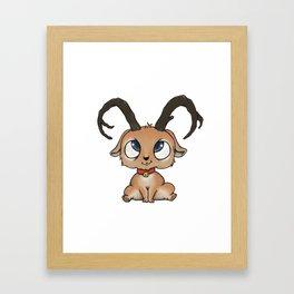 Baby deer Framed Art Print