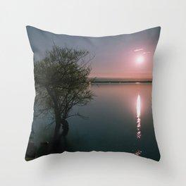 Moonrise over Sandbanks Throw Pillow