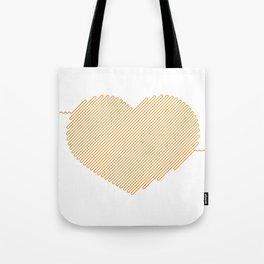 Heart Circuit Tote Bag