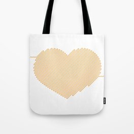 Heart Circuit Tote Bag