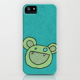 Slightly Amused Monsters, V Green iPhone Case
