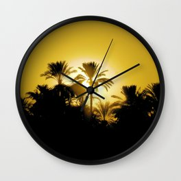 Luxor Nile Sunset Wall Clock