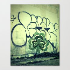 Gritty alley shamrock Canvas Print