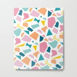 Jumpy -- abstract geometric preppy pastel bright pattern modern minimalist Metal Print