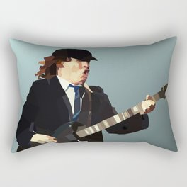 Low Polygon Portrait of Angus Young Rectangular Pillow