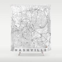 Nashville Map Line Shower Curtain