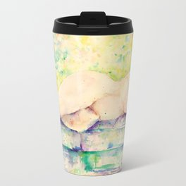 Watercolor Nude Sleeping Female Impressionlist (Female Model)  Travel Mug