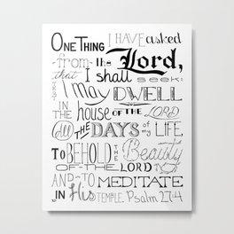 All The Days, Bible Verse Art Metal Print