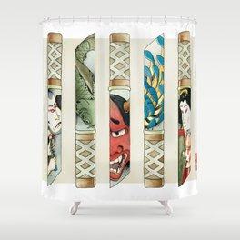 Japanese knives Shower Curtain