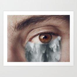 You make me cry Art Print