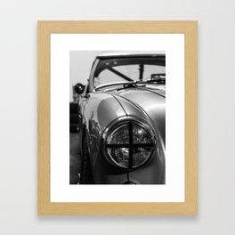 Black 'n White Racer / Classic Car Photography Framed Art Print