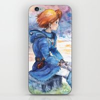 nausicaa iPhone & iPod Skins featuring The cloudy Sky in the Valley by LucioL