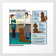 Maintenance Pet Grooming vs Matted Shaves Art Print