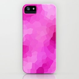 Modern Abstract Pink Polygonal Shapes iPhone Case