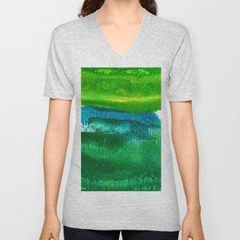 Encaustic Abstract No.27N by Kathy Morton Stanion Unisex V-Neck