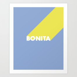 BONITA Blue Art Print